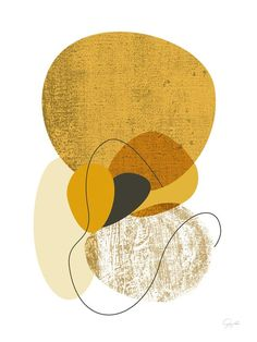 Contemporary Art Mustard Print with an Abstract Boho Style, available as Large Wall Art fits well with Mid Century Modern - Art ideas Modern Artwork, Contemporary Art, Framed Wall Art, Canvas Wall Art, Grand Art Mural, Boho Stil, Extra Large Wall Art, Mid Century Modern Art, Abstract Print