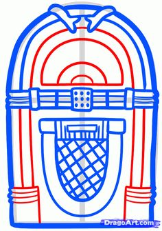 how to draw a jukebox step 5