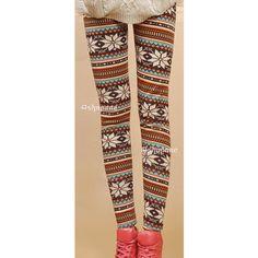 New Women's Nordic Deer Snowflake Knitted Leggings Tights Pants   eBay
