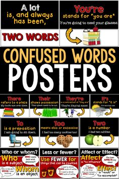 CLASSROOM DECOR: use these posters in your English classroom to remind your students about the proper use of many commonly confused words,