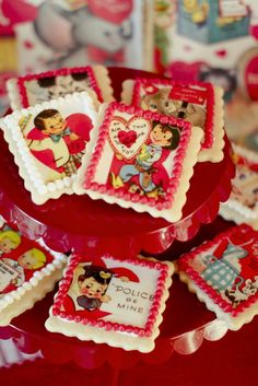 Vintage Valentine's Cookie Decorating Party - Kara's Party Ideas - The Place for All Things Party