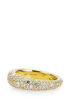 Cobblestone Fancy Diamond Pave Ring In 18K Yellow Gold by Kwiat - Resort 2015 (=)