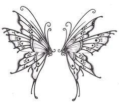 Dibujos de alas de hadas - Imagui