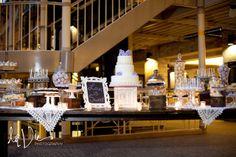 cocoa & fig: Minneapolis Mini Dessert Table and 3 Tier Wedding Cake: Lauren and Bradley