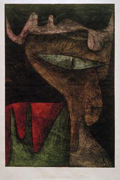 Titre de l'image : Paul Klee - Daemonisches Fraeulein, 1937, 80.