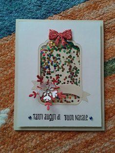 Ho realizzato questa card natalizia utilizzando le meravigliose fustelle e i timbri della Coppia Creativa