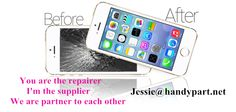 You are the repairer  I'm the supplier  We are partner to each other!