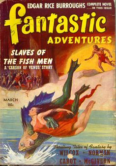 Publication: Fantastic Adventures, March 1941 Editors: Raymond A. Palmer Year: 1941-03-00 Publisher: Ziff-Davis Publishing Company  Cover: J. Allen St. John