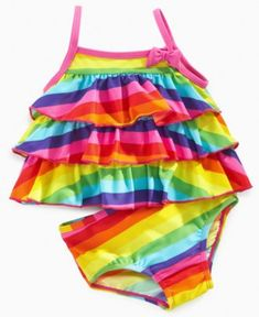 Carter's Baby Swimsuit, Baby Girls Rainbow Bikini - Kids - Macy's