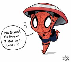 "Spidey in ""Civil War"" -- art by treehasweapons"