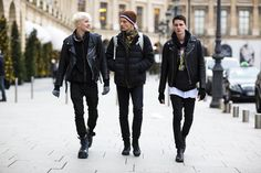 Benjamin Jarvis, Greg France, Andrew Westermann at LCM F/W 2015 by Nabile Quenum
