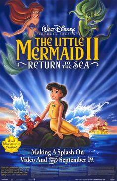The Little Mermaid II: Return to the Sea posters for sale online. Buy The Little Mermaid II: Return to the Sea movie posters from Movie Poster Shop. We're your movie poster source for new releases and vintage movie posters. The Sea Movie, Love Movie, I Movie, Movie List, Best Disney Movies, Disney Films, Great Movies, Pixar Movies, Cartoon Movies