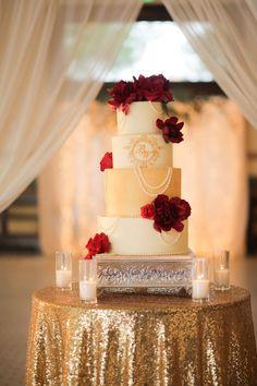 Wedding Essentials Omaha // Red Roses // Wedding Floral // Reception decor // bridal style // romantic red // inspiration // wedding blog // ballroom wedding // cake