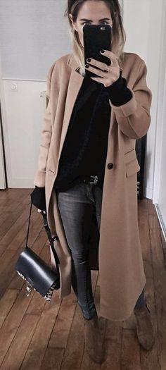 Coat #thekooples + Knit #princessetamtam + Jean #cheapmonday Source