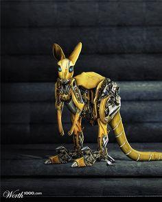 Kangaroos! - The Bumblebee Roo by Manosartft