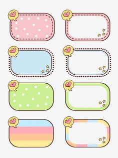 Border Texture Cute Cartoon With Commercial Elements Vector and PNG Bullet Journal School, Bullet Journal Ideas Pages, Journal Stickers, Planner Stickers, Printable Stickers, Cute Stickers, Cute Borders, Powerpoint Background Design, School Labels