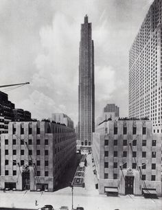 rockefeller center from the fifth avenue. july 1935