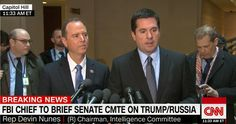 RUSH: About an hour before program began there was a joint little press conference between Adam Schiff (this pencil neck geek, Democrat congressman from California) and Devin Nunes, the Republican chairman of the House intelligence community,