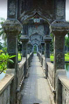 Ujung Water Palace in Bali, Indonesia
