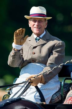thebritishnobility:  The Duke of Edinburgh went carriage driving at Royal Windsor Horse Show, May 18, 2014
