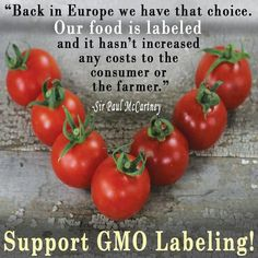 gmos are bad   Which reminds me of a bumper sticker I had plastered on my podium when ...