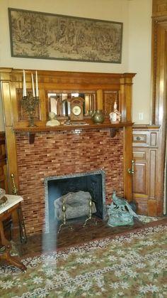 Fireplace floor tiles