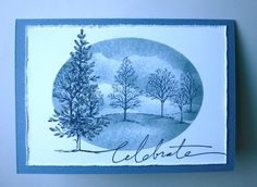 Lovely as a Tree in Brocade Blue and Night of Navy