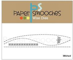 Paper Smooches Stitched Border Dies. Stand Alone Die set - These dies works well with horizontal/vertical cards and scrapbook pages. Add a stitched line to add
