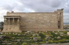 The Erechteion after its restoration. View from the south. Acropolis, Athens