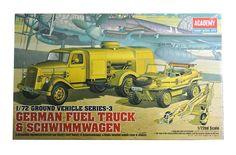 Academy Plastic Model Kit Hobby 1/72 German Fuel Truck & Schwimm Wagen 13401 NIB #Academy