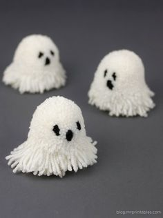 I used to make these as a kid! Love the idea of little ghosts and they're so cute!