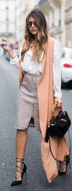 Coral Sleeveless Trench Dress Fall Inspo by The Girl From Panama