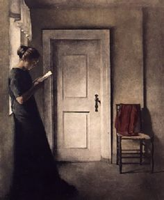 Peter Ilsted, Interior with a red shawl, maniera nera proposta da Forlaget Cordelia - Hans Moestrup in vendita sul portale d'arte Amorosart Reading Art, Woman Reading, Red Shawl, Johannes Vermeer, Dramatic Lighting, Art Society, Classic Paintings, Victorian Art, Art Moderne