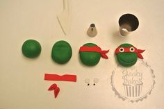 Ninja Turtles Fondant Cupcake Topper Tutorial