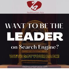 Do you want to be the TOP on search engine results? As a professional SEO Agency in Hong Kong, we are here to make sure your goal is fulfilled - to get you on First Page! To learn more about our SEO Services in Hong Kong, visit our website, or email; enquiry@redmountainasia.com Digital Marketing Services, Seo Services, Seo Agency, First Page, Seo Company, Search Engine, Hong Kong, Goal, Engineering