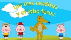 Los tres cerditos y el lobo feroz en español - Cuentos Infantiles - Cuen...