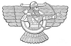 Ashur, Assyrian God by Photo Researchers