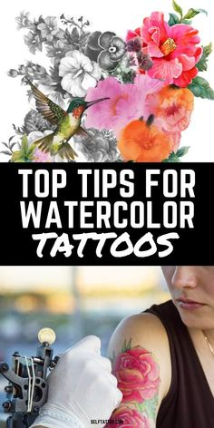 Top Tips For Watercolor Tattoos | Tattoo Ideas - Are you thinking about getting a vibrant watercolor tattoo? Watercolor tattoos have become popular over the last few years for obvious reasons. Click here to discover more about the different styles of watercolor tattoos and the meaning behind popular designs. Self Tattoo | Watercolor Tattoo | Tattoo Designs | Body Art | Colorful Tattoos | Colorful Tattoos for Women | Color Tattoo | Tattoo Ideas Female | Tattoo Ideas for Men Tiny Flower Tattoos, Birth Flower Tattoos, Flower Tattoo Designs, Tattoo Designs Men, Meaningful Tattoos For Men, Unique Tattoos For Women, Small Tattoos For Guys, Watercolor Tattoo Feather, Feather Tattoos