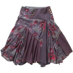 Multi Coloured Remarkable Skirt found on Polyvore ~ dusty plum with pops of SSu's red, blended look  (Close to my alternate Zyla Dramatic color, faded grappa/plum)