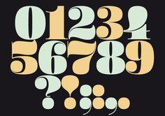 Christmas Numerals by Sascha Timplan, via Behance