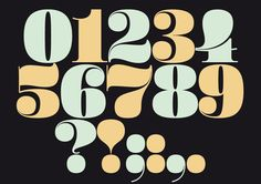 Christmas Numerals (Free Font) by Sascha Timplan, via Behance