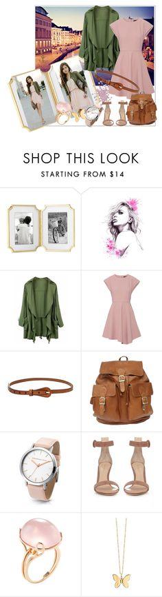 """Paris pink"" by mahima-dahiya ❤ liked on Polyvore featuring Kate Spade, TIBI, Gianvito Rossi, Goshwara and Sydney Evan"