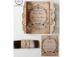 Hey, I found this really awesome Etsy listing at https://www.etsy.com/listing/115142595/custom-doily-wedding-invitation-vintage