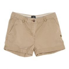 Maison Scotch Womens Beige Cotton Chino Roll Up Shorts ($45) ❤ liked on Polyvore featuring shorts, bottoms, short, pants, rolled shorts, cotton shorts, striped shorts, roll up shorts and chino shorts