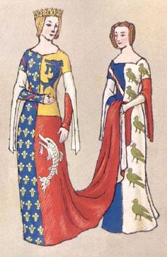 Houston Plate IV The Picture Above And Below Show Examples Of Heraldic Dress It Was Fashionable In This Period To Wear Your Heraldy On