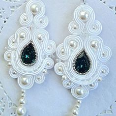 Soutache Soutache Bracelet, Soutache Pendant, Soutache Jewelry, Wire Jewelry, Beaded Jewelry, Jewelery, Handmade Jewelry, Bride Earrings, Diy Earrings