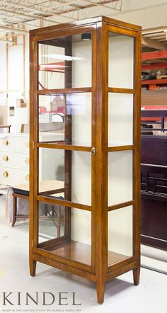 Knowledge Curio Cabinet (71-963) made from start to finish 100% in Grand Rapids, MI