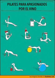 Pilates para apasionados por el vino.