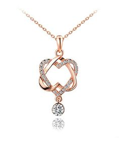 "Buckeye Embedded Zircon Double Heart Rose Gold Plated Pendant Necklace,20"" Buckeye http://www.amazon.com/dp/B018VBBS7I/ref=cm_sw_r_pi_dp_StBywb0ZYRX32"