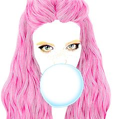 Bubble Gum Girl #04 Art Print